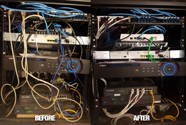 IT Services, IT Support Ayrshire - Cabinet Re-cabling